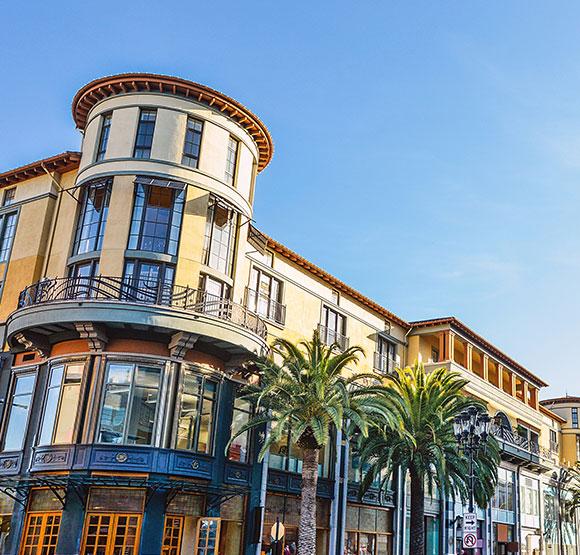 Santana Row at San Jose, California