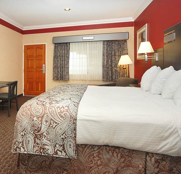King Bed Room available in Hotel California