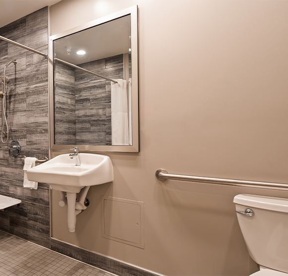 ADA Double Queen w/ Roll-In Shower at SureStay Plus Santa Clara Silicon Valley